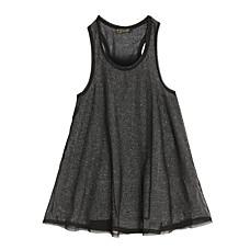 venta al por mayor doble malla vestido sin mangas