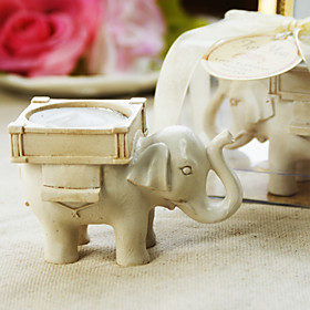 Elephant Wedding Favors on Lucky Elephant Antique Ivory Finish Tea Light Holder Fantastic Little
