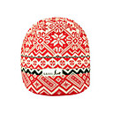 SAMII Jacquard Argyle Knit Beanie Hat-Red (0031) (Start From 20 Units)-Free Shipping
