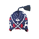 SAMII Jacquard Knit Beret Beanie Hat-Navy(Start From 20 Units)-Free Shipping