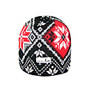 SAMII Jacquard Argyle Bibbed Hat Knit Beanie-Black + Red (0004) (Start From 20 Units)-Free Shipping