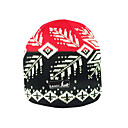 SAMII Jacquard Argyle Knit Beanie Hat-Red + Black (Start From 20 Units)Free Shipping
