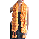 Rabbit Hair Boa Shawl Scarf Ball Pom Poms Wrap (HSC-006) (Start From 50 Units)-Free Shipping