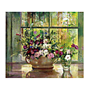 Handmade Flowers Art Oil Painting on Canvas With Wood Frame/High quality (GDH-146)-Free Shipping