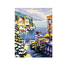 Handmade Landscape Art Oil Painting on Canvas With Wood Frame (DH-042) -Free Shipping