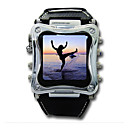 2GB Metallic 1.5 Inch OLED MP4 / MP3 Watch Player (CAVS011) (Start From 5 Units) -Free Shipping