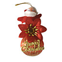 Santa Clause Christmas Ornament Ribbon Ball (KY-1204) (Start From 30 Units)-Free Shipping