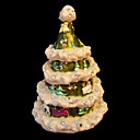 mooie legering kerst-boom sieraden doos / trinket box (QTS-006) (vanaf 10 stuks)-gratis verzending