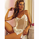 Intricate Venice and Sheer Baby Doll / WHITE (LRB2053)