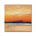 "Handmade Oil Painting on Canvas - The Beach - 1 20"" x 20"" (Start From 5 Units) Free Shipping"