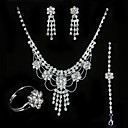 Magnificent Wedding Jewelry 4 piece Set (TYPJ015) (Start From 10 Units) Free Shipping