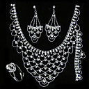 Magnificent Wedding Jewelry 4 piece Set (TYPJ014) (Start From 10 Units) Free Shipping