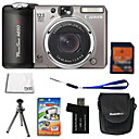 Canon PowerShot A650 IS 12.4MP Digital Camera + 4GB SD Card  + 6 Bonus