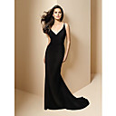A-line Spaghetti Straps Court Train Prom / Evening Dress (HSX207) (Start From 3 Units) Free Shipping