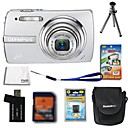 Olympus FE-330 8.0MP Digital Camera + 1GB xD Card + Extra Battery + 6 Bonus