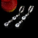 Clear Cubic Zirconia Drop Earring - Cubic Zirconia ELX3 - 0004 (SZY685)