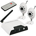 2.4G 4-channel kit wireless con 2x fotocamera visione notturna wireless