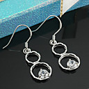 Sterling Silver  Bi-cycle Clear CZ Earring-Sterling Silver Earring e22797 (SZY1415)