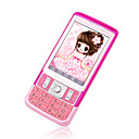 DAXIAN X328  Dual Card Tri-Band Analog TV  Touch Screen Cell Phone Pink
