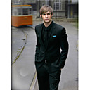 One Button Single Breasted peaked Lapel Tuxedo Suit / Jacket & Pants /Black Tie ( SSP009)