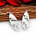 Sterling Silver Clear CZ Earring-Sterling Silver Earring e22852 (SZY1516)