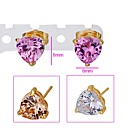 Beautiful Heart CZ Earring Stud-CZ Earring 90226-16 (SZY1555) 20pcs/lot
