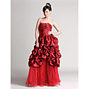 A-line Sweetheart Floor-length Taffeta OrganzaTD0904 Prom/ Evening/ Homecoming Dress (HSX240)