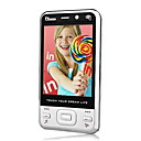 ZTC V688 Dual Card Quad Band Dual Camera TV Function Touch Screen Cell Phone Silver