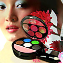 20 Pcs VOV 6 Colors Eyeshadow Palette 2# - 5 Colors Eyeshadow and 1 Color Blusher