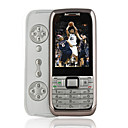 N75 Dual Card Quad Band Side Slide Cell Phone Silver