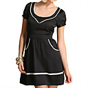 Contrast Piped Dress (09VQX016)