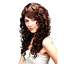 Capless Long Golden Brown Synthetic Curly Hair Wig