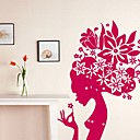 Flower Goddess Rose Wall Sticker (0586 - 6940118552456)