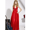 Empire Sweetheart Floor-length Elastic Silk-like Satin Dress On Sale / Evening Dress (OFGC0221)