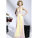 Empire V-neck Floor-length Silk Chiffon Dress On Sale / Evening Dress (OFGC0178)