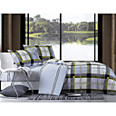 4-pc Goteborg Pane Cotton Full Size Duvet Cover Set - Free Shipping (9S101005S)