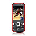 Zoho-5730 Dual Card Dual Camera Quad Band TV WIFI Flat Touch Screen Cell Phone Black and Red (2GB TF Card)
