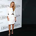 Blake Lively Sheath/Column Scoop Knee-length Elastic Woven Satin Cocktail/Bridesmaid/Homecoming/ Gossip Girl Fashion Dress (FSD0271)
