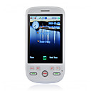 A6188 Dual Card Dual Mode Dual Bluetooth JAVA Ultra Thin Flat Touch Screen CDMA Cell Phone White (2GB TF Card)