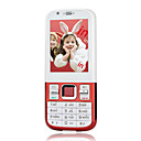 N88 Dual Card Dual Standby Quad Band Cell Phone White and Red (2GB TF Card)(SZ05450216)