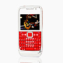 E71i Style JAVA Quad Band Dual Card Bluetooth Dual Camera Ultra Thin FM TV QWERTY Keypad Cell Phone Red (2GB TF Card)(SZ05150503)