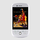 G3 Dual Card Quad Band Dual Camera TV JAVA Flat Touch Screen Cell Phone White (2GB TF Card)(SZ05120056)