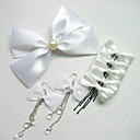Gorgeous Ribbon Bow Wedding Bridal Hair Jewelry Eight Pieces Set ,More Colors Available