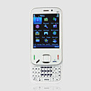 N87 Dual Card Dual Camera Quad Band QWERTY Keypad Touch Screen Slide Cell Phone White (2GB TF Card)(SZ00720233)