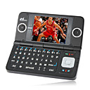 E90 dual-kaart dual screen tri-band QWERTY-toetsenbord touch screen mobiele telefoon zwart (2GB TF-kaart) (sz00720208)