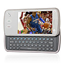 Daxian N97 Style QWERTY Keypad Dual Card Bluetooth Touch Screen TV Slide Cell Phone Gray (2GB TF Card)