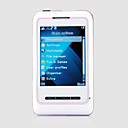 CCk-11 MINI Quad Band Dual Card Ultra Thin Flashlight Flat Touch Screen Cell Phone White and Red (2GB TF Card)