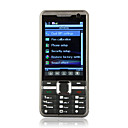 K66 TV JAVA Bluetooth Dual Camera Dual Card Quad Band Touch Screen Cell Phone Black (2GB TF Card)