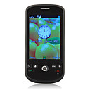 nooc G2 Dual Card Quad Band with Trackball Flat Touch Screen Cell Phone Black (2GB TF Card and Leather Case)