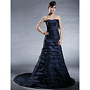 Taffeta A-line Sweetheart Court Train Evening Dress inspired by Alyson Hannigan at Emmy Award